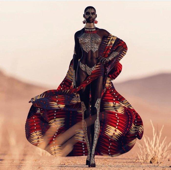 Потрясающая африканская модель Reddit, Модель, Мода, Африка, 3D