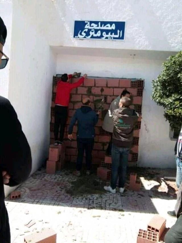 """""""Замуровали, демоны!"""" Алжир, Борьба с коррупцией, Дверь, Замуровали демоны, Длиннопост"""