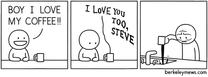 А говорил, что любишь Комиксы, Berkleymews, Кофе