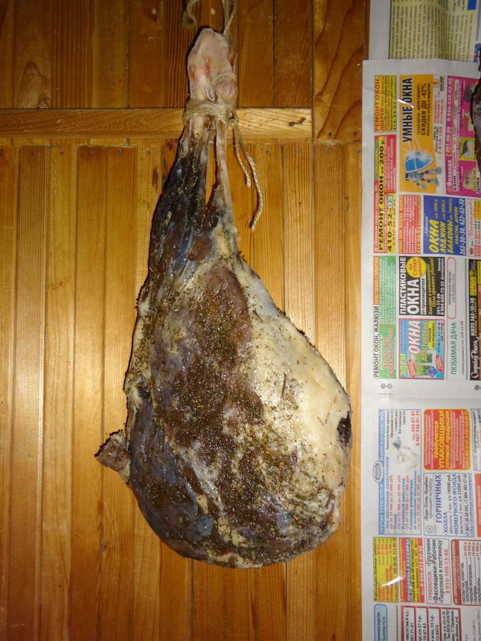 Вяленая баранья нога / домашний хамон Хамон, Мясо, Баранья нога, Сыровяленое мясо, Бастурма, Закуска к пиву, Сушеное мясо, Вкусно, Видео, Длиннопост