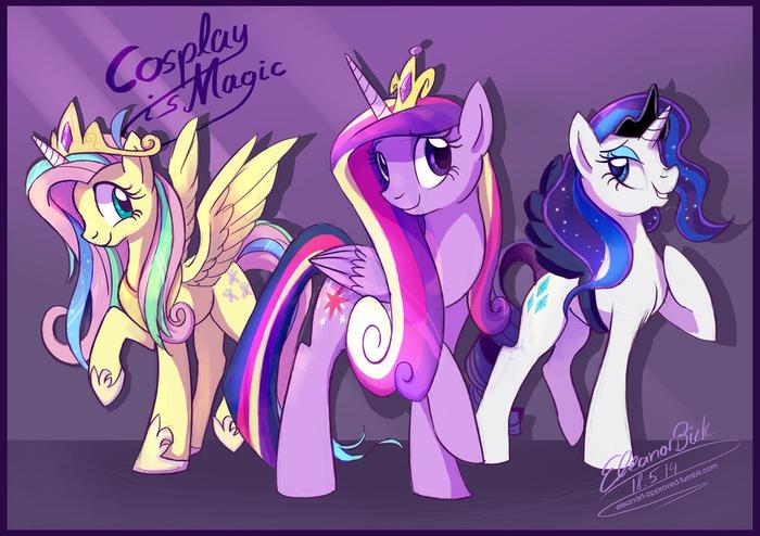 Косплей - это магия! My Little Pony, Fluttershy, Twilight Sparkle, Rarity, Princess Celestia, Princess Cadance, Princess Luna
