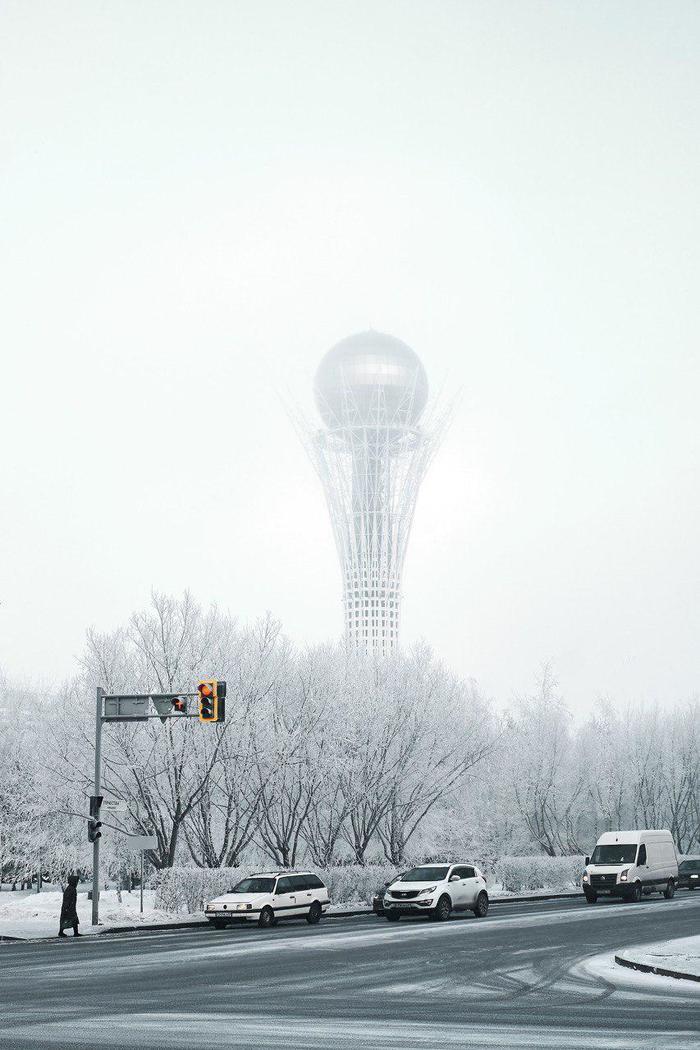 Зимняя Астана Астана, Зима, Фотография, Казахстан, Длиннопост, Нур-Султан