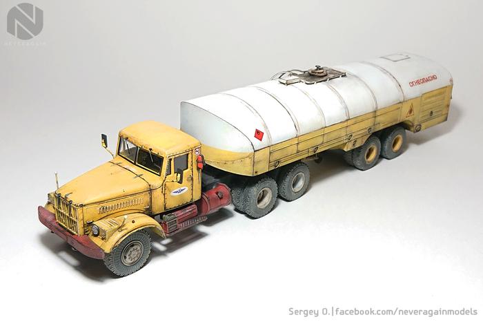 Краз, который везет всем керосину Стендовый моделизм, Масштабная модель, Краз-258б1, Топливозаправщик, 1:43, Длиннопост