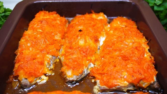 Скумбрию в духовке с морковью и луком Рыба, Рецепт, Видео рецепт, Еда, Кулинария, Видео