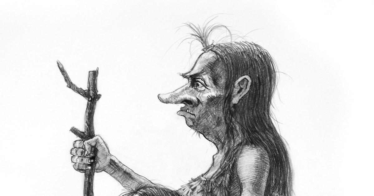 кикимора рисунок карандашом покрытию него зависит