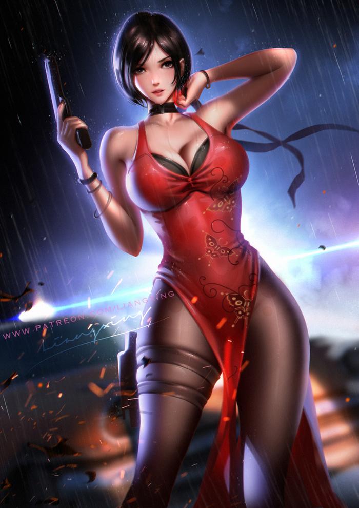 Ada Wong Art Арт, Liang Xing, Resident Evil, Resident Evil 4, Ada Wong, Девушки