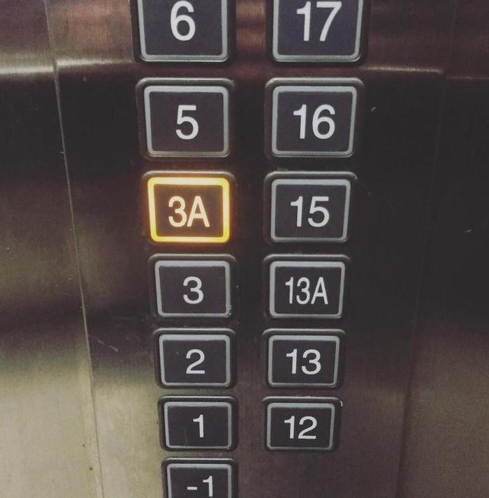 Только в Азии. Два тринадцатых этажа.Звучаниецифры 4 слишком похоже на слово «смерть»