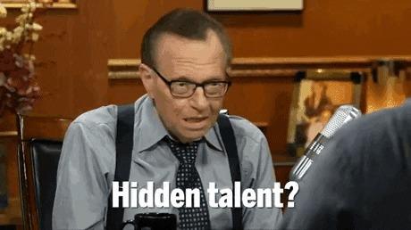 """Когда спрашивают про твою """"суперспособность"""".... [2] Натан Филлион, Ларри Кинг, Талант, Гифка"""