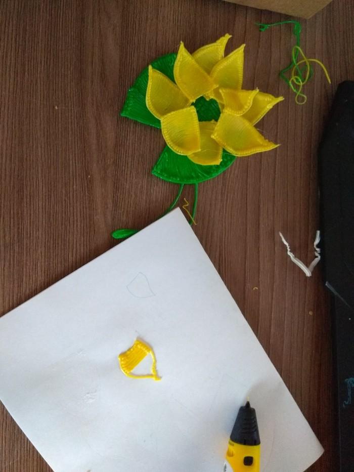 Вторая кувшинка 3D ручкой, ABS пластик 3D ручка, Работа 3D ручкой, Творчество, Хобби, Цветы, Длиннопост