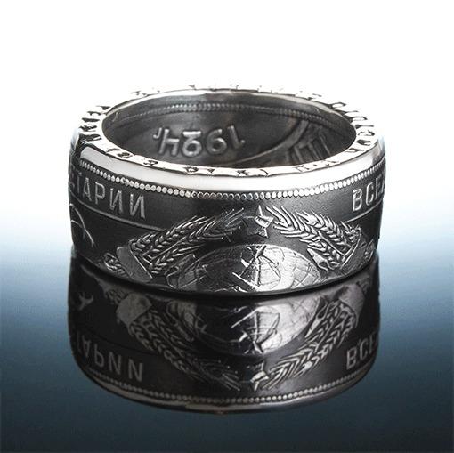 Кольцо из 95-летнего рубля Кольцо, Монета, Рукоделие без процесса, Украшения ручной работы, Длиннопост, Рубль, Гифка