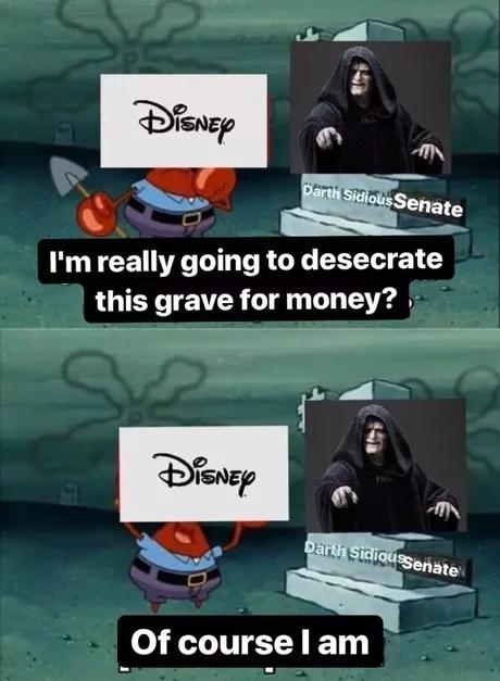 Ну конечно! Star Wars, Император Палпатин, Сенат, Спанч Боб, Walt Disney Company, Звездные войны IX