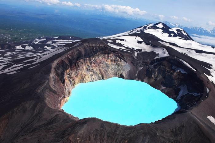 Вулкан Малый Семячик, Камчатка.