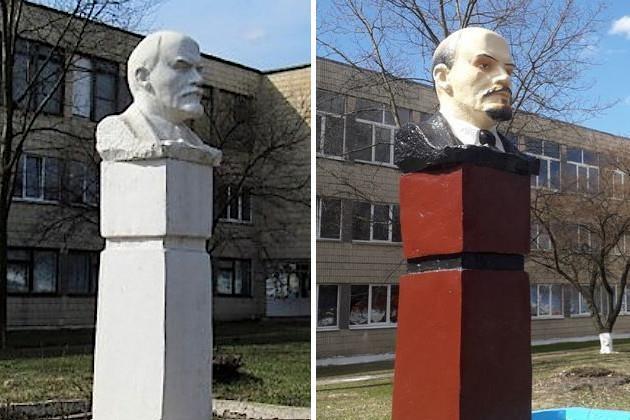 Колоризация Беларусь, Памятник, Реставрация, Ленин, Картинки, Колоризация