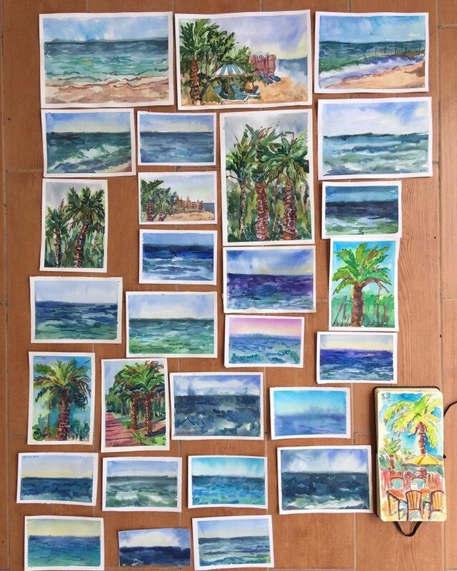 Когда скучаешь по отпуску Рисунок, Море