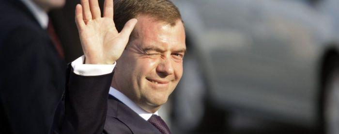 А Медведев то вовремя съеал