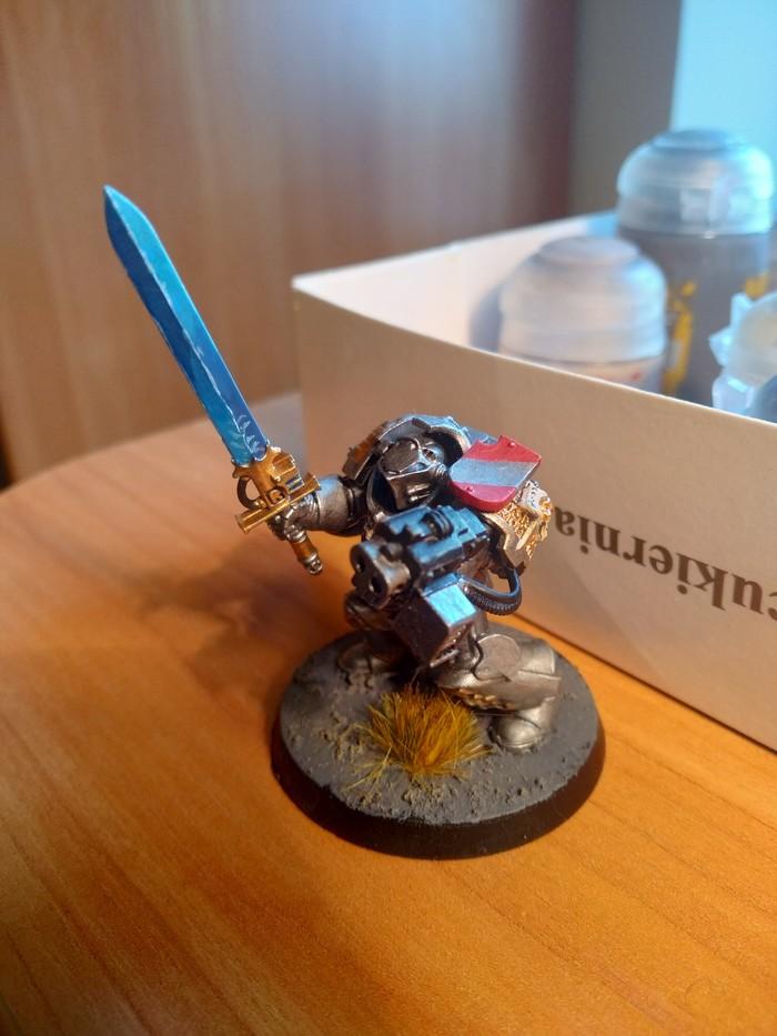 Терминатор серых рыцарей Warhammer 40k, Wh miniatures, Miniatures painting, Wh painting, Grey Knights, Длиннопост