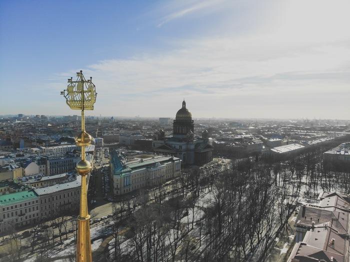Шпиль Адмиралтейства Аэросъемка, Фотография, Квадрокоптер, Санкт-Петербург