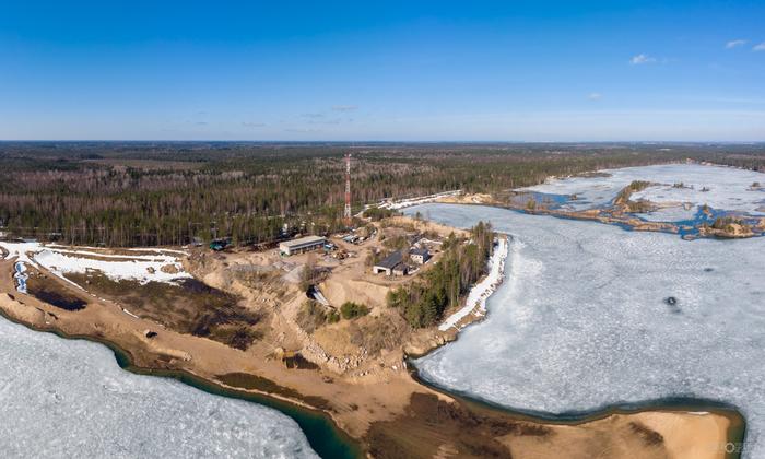 Затопило... DJI Mavic Air, Ленинградская область, Фотография, Квадрокоптер, Длиннопост