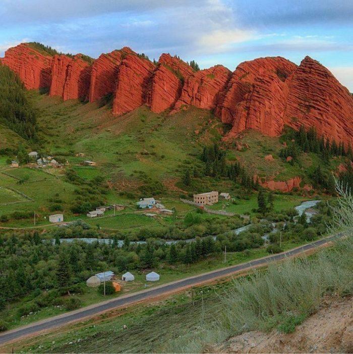 Красота пейзажей Кыргызстана