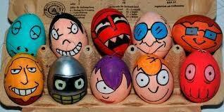 Оригинальные пасхальные яйца