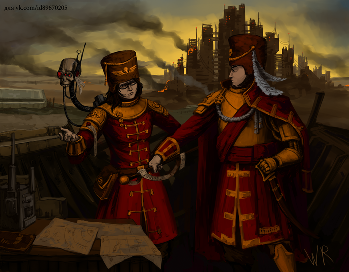 Арт на заказ Wolk Risovalshik, Warhammer 40k, Astra Militarum, Vostroyan Firstborn