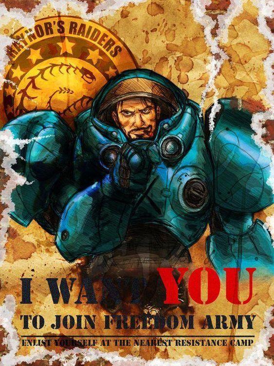 Немного агитации от Рейдеров Рейнора Starcraft, Starcraft 2, Постер, Агитация, Агитационный плакат, Рейнор, Raynor, Терраны, Длиннопост