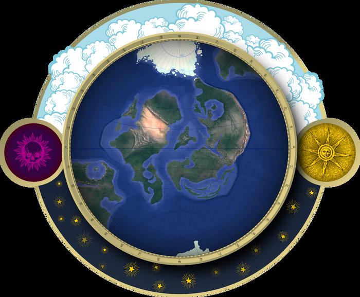 Намутил карту для авторского мира Ингират, Авторский мир, Настольные ролевые игры