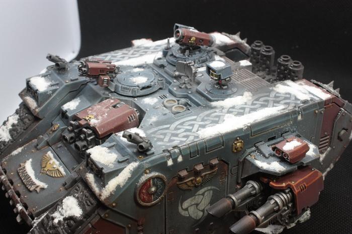 Заснеженный ланд рейдер Warhammer 40k, Хоббит, Миниатюра, Покраска миниатюр, Длиннопост, Warhammer 30k, Ваха миниатюры