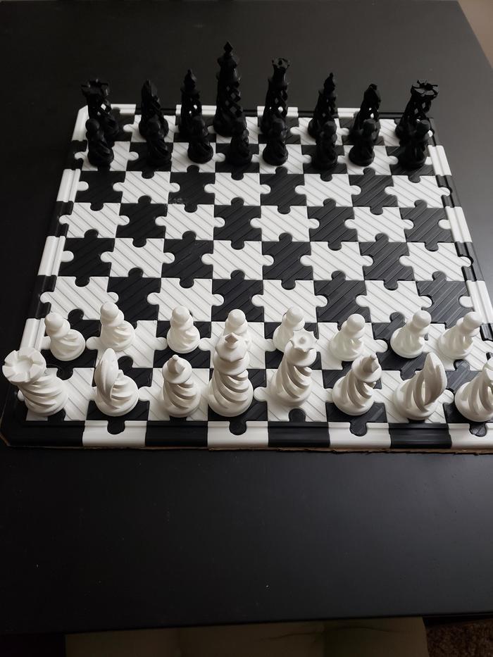 Шахматы сделанные в 3D-принтере