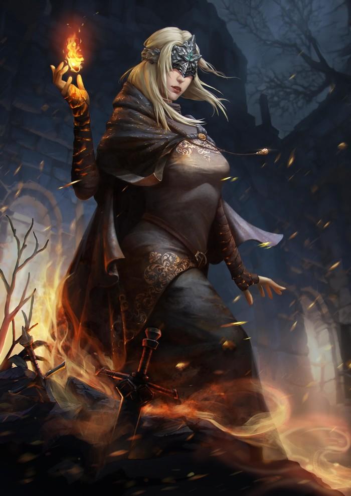 Firekeeper — Dark Souls III Dark Souls, Dark Souls 3, Fire Keeper, Компьютерные игры, Арт, Игры
