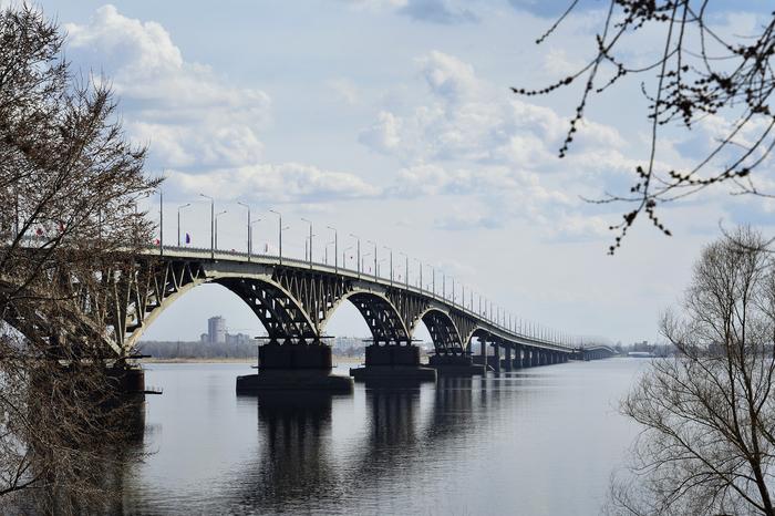 Любимый мост Мост, Саратов, Река Волга, Nikon d7100, Фотография
