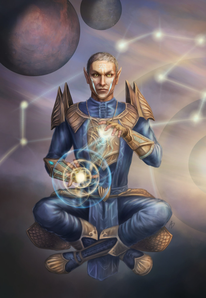 Монах ордена Псиджиков Арт, The Elder Scrolls, The Elder Scrolls Online, Игры, Орден Псиджиков, Монах