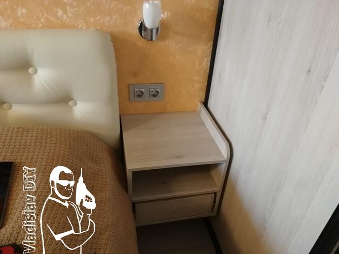Подвесные прикроватные тумбочки и консоль под телевизор Своими руками, Мебель своими руками, Мебель из лдсп, Корпусная мебель, Рукоделие с процессом, Длиннопост