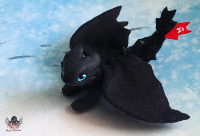 Little furry Как приручить дракона, Рукоделие без процесса, Полимерная глина, Дракон, Ручная работа, Длиннопост