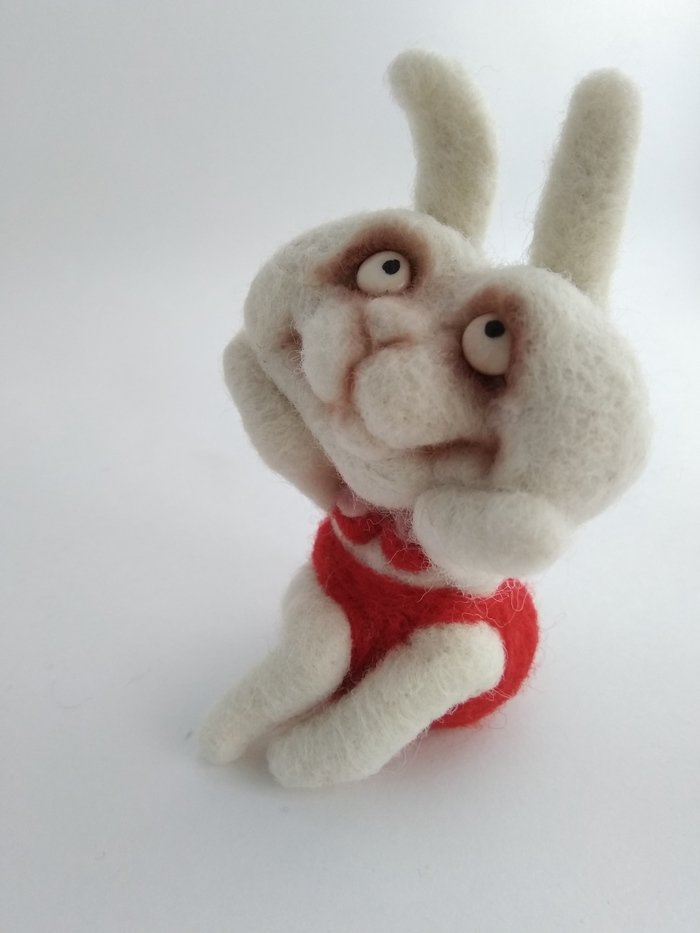 Лиса, заяц и белка. Сухое валяние, Ручная работа, Рукоделие без процесса, Лиса, Заяц, Белка, Длиннопост