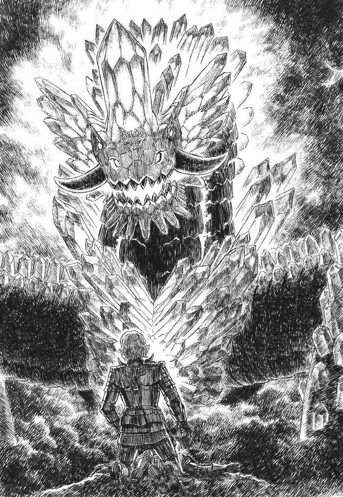 Английская версия «Берсерк: Рыцарь Огненного Дракона» поступила в продажу на Amazon. Кэнтаро Миура, Новелла, Берсерк, Манга, Аниме, Рисунок, Длиннопост