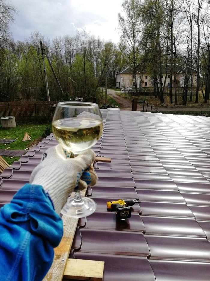 Ну, с новой крышей... Дача, Выходные, Строительство, Стройка, Весна, Крыша, Дом