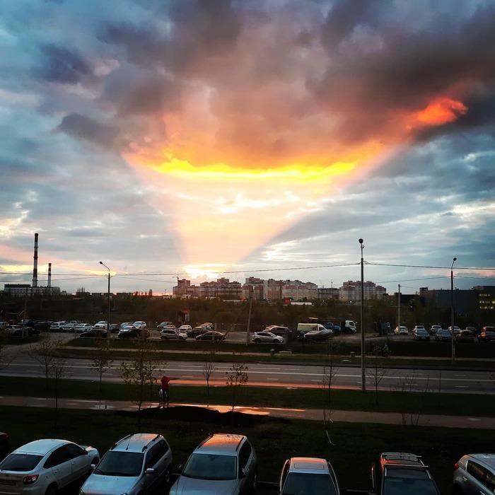Закат в Липецке. Закат, Фотография, Красота, Липецк
