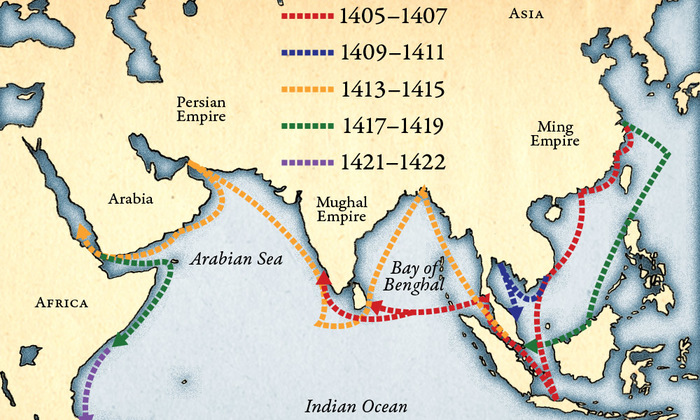 Сравнение размеров китайской джонки 15 века и испанской каравеллы Китай, Чжэн хэ, Джонка, Каравелла, Открытие, География