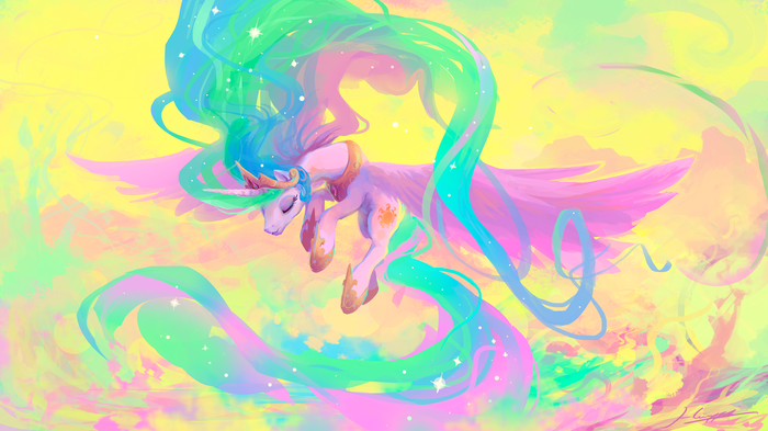 Her Radiance, Our Sunlight My Little Pony, Princess Celestia, 1920x1080, Huussii, Teemu Husso