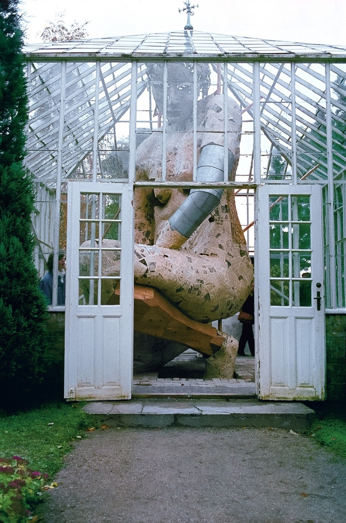 В Теплице Скульптура, Дания, Теплица, Дерево, Фигура