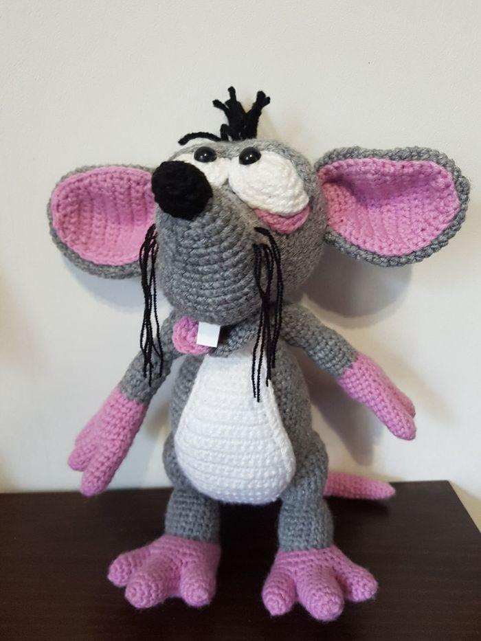 Товарищ Мышь Рукоделие без процесса, Рукоделие, Хобби, Мышь, Интерьерная игрушка, Своими руками, Вязание крючком