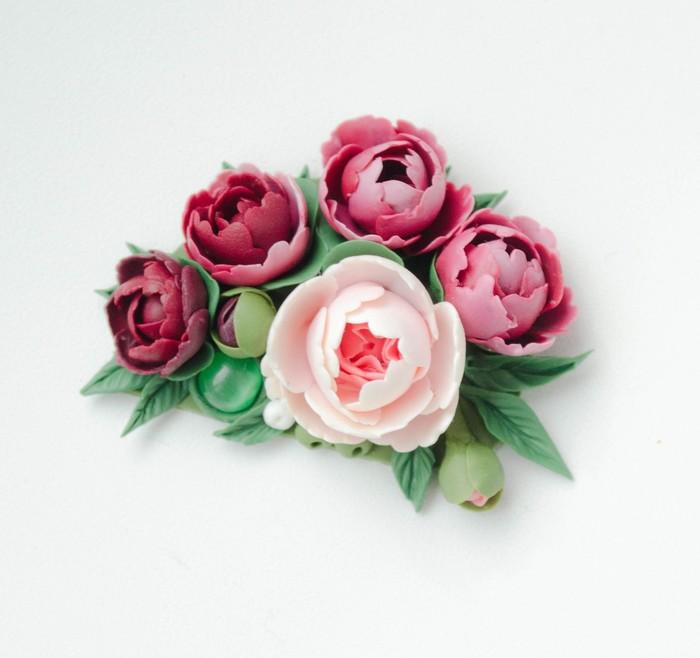 Расцветай Полимерная глина, Цветы, Пионы, Ностальгия, Длиннопост