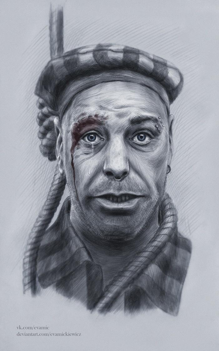 Тилль Линдеманн Фан-Арт, Rammstein, Lindemann, Deutschland, Тилль Линдеманн, Портрет, Рисунок, Музыканты