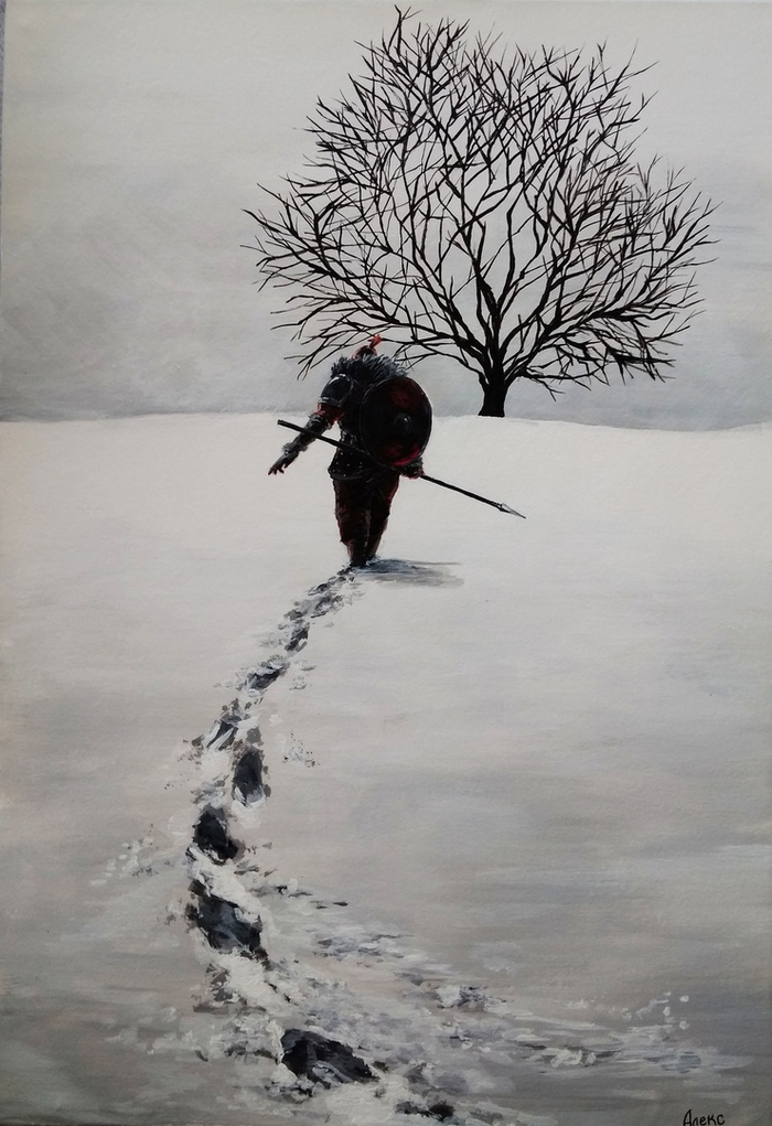 "Глава 2 ""Поход на восход"" Акрил, Пейзаж, Творчество, Картина, Арт"