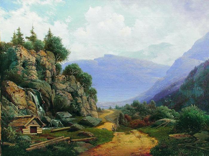 Арсений Мещерский «Горный пейзаж», 1860-е.