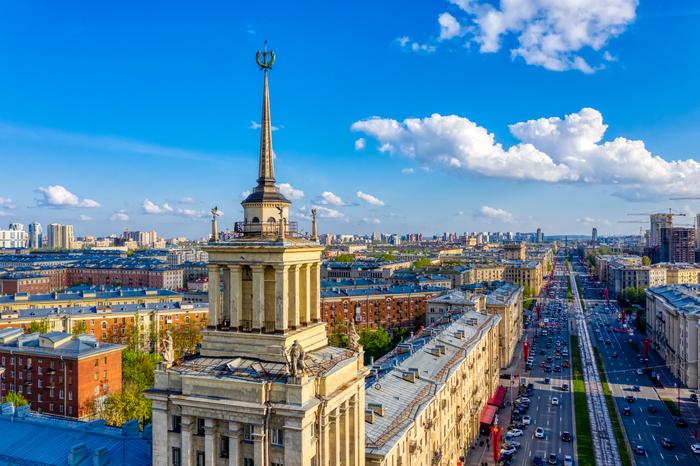 Дом со шпилем Дом, Шпиль, Башня, Сталинка, Московский проспект