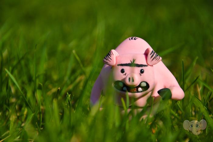 """Фигурка свина из игры """"Don't Starve"""" из полимерной глины Dont Starve, Свинья, Фигурка, Полимерная глина, Ручная работа, Рукоделие без процесса, Длиннопост"""