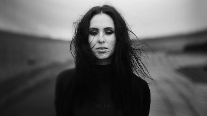Таня Портрет, Красивая девушка, Черно-Белое