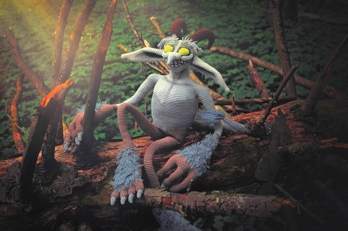 "Амигуруми ""Бес"" по мотивам игры  world of warcraft. Амигуруми, Вязаные игрушки, World of Warcraft, Мягкая игрушка, Творчество, Хобби, Крипота, Мифические существа, Длиннопост"
